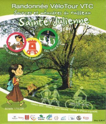 Carte Sources et méandres du ruisseau Sainte-Julienne