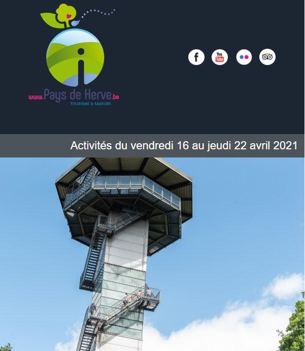 Newsletter du 16 au 22 avril 2021 au Pays de Herve