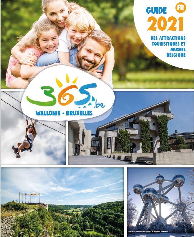 Cover-Guide des attractions touristiques et musées de Belgique - 2021