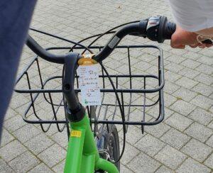 bracelet points-noeuds sur vélo